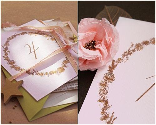 Cómo crear tarjetas con números vintage para mesas de boda 1