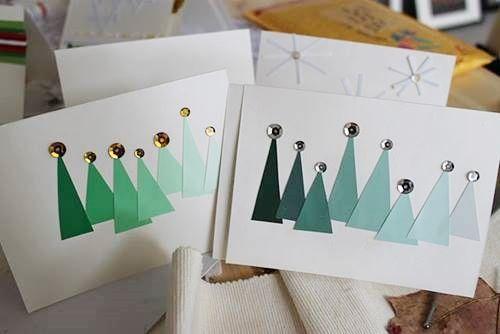crear tarjetas de navidad hechas a mano