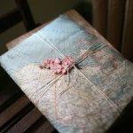 Cómo envolver regalos originales con mapas