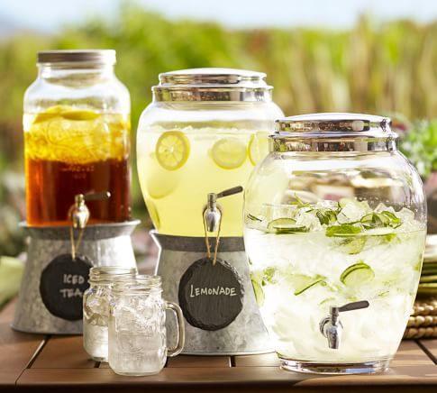 Dispensador de bebidas decorativo para bodas y fiestas 5