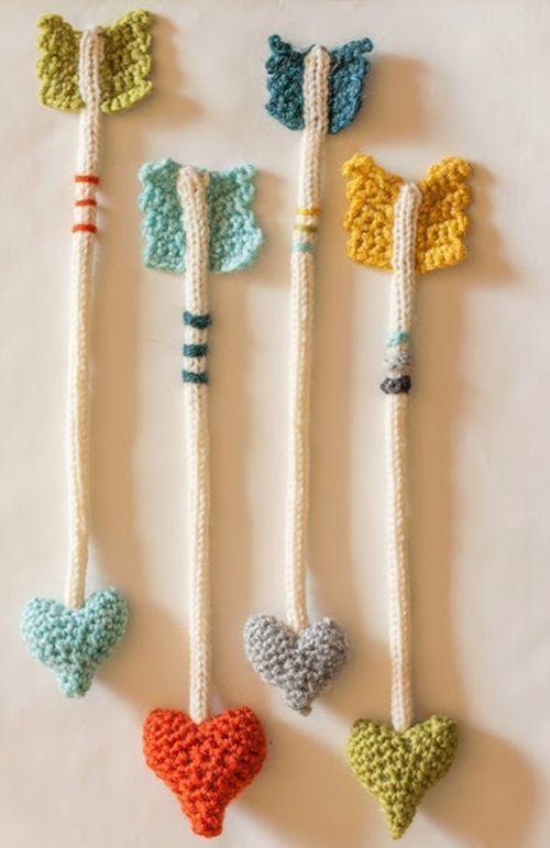 Cosas de ganchillo para regalar las flechas del amor de - Manualidades practicas para regalar ...