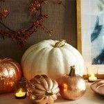 Manualidades Halloween: decorar calabazas con efecto metalizado