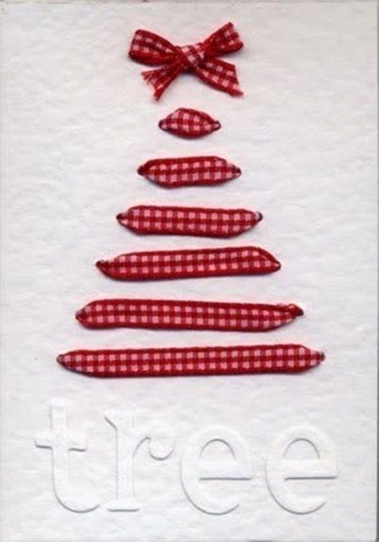 Postales de navidad originales con cintas y ramas secas - Tarjetas originales navidad ...