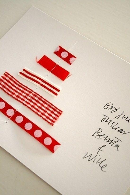 postales de navidad originales con cintas y ramas secas with postal de navidad original