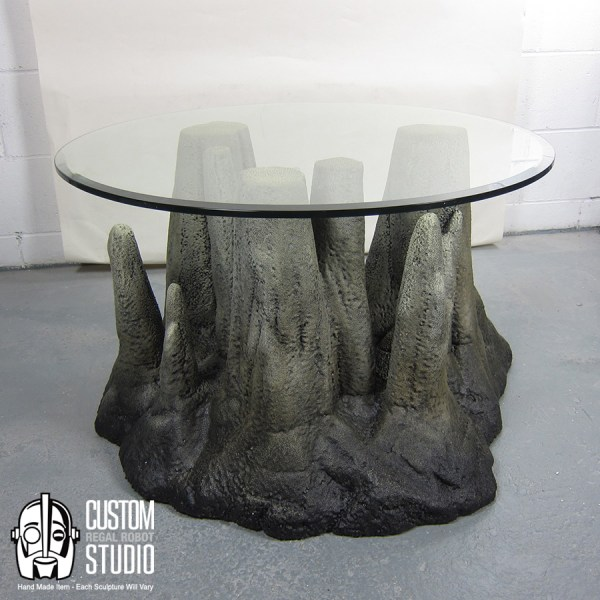 Stalagtable Hand Faux Rock Coffee Table Side