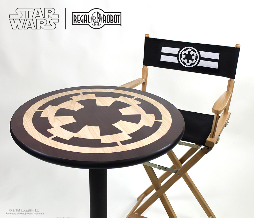 Star Wars Chairs Star Wars Imperial Symbol Cafe Table Regal Robot