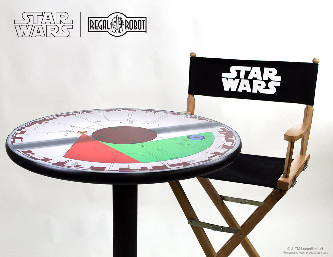 Star Wars Chairs Death Star Countdown Themed Cafe Table By Regal Robot