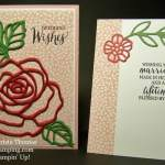 Rose Garden Double Vision Wedding Card