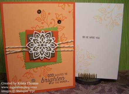 Stampin' Up! Flourishing Phrases by Krista Thomas, www.regalstamping.com