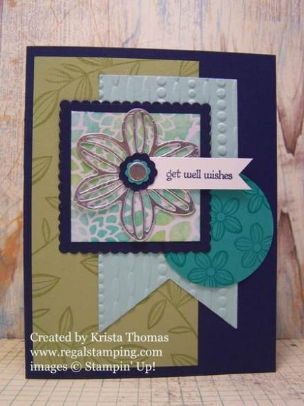 Falling Flowers and May Flowers Framelits by Stampin' Up! Created by Krista Thomas, www.regalstamping.com