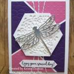 Beautiful Detailed Dragonfly with Puzzle-pieced Background