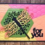Detailed Dragonfly with Puzzle-Pieced Background Technique