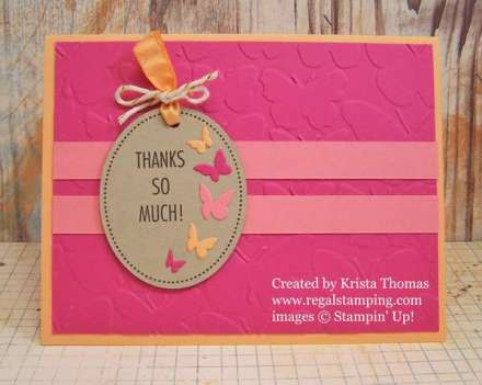 That's the Tag Butterfly Card, www.regalstamping.com, by Krista Thomas