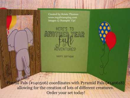 Playful Pals & Pyramid Pals, Stampin' Up! Party Elephant by Krista Thomas