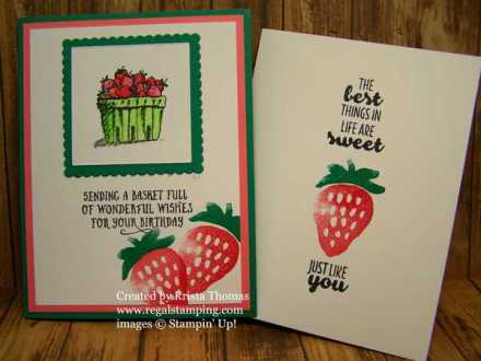 #FreshFruit #BasketOfWishes, card by Krista Thomas, www.regalstamping.com