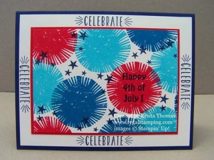 Fireworks card with Lovely Inside & Out
