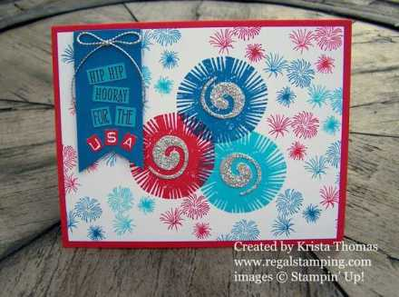 Lovely Inside & Out fireworks card for 4th of July