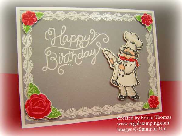 Icing On The Cake With Birthday Delivery Card By Krista Thomas Www Regalstamping
