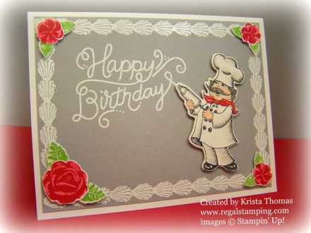 Icing On the Cake with Birthday Delivery card by Krista Thomas, www.regalstamping.com