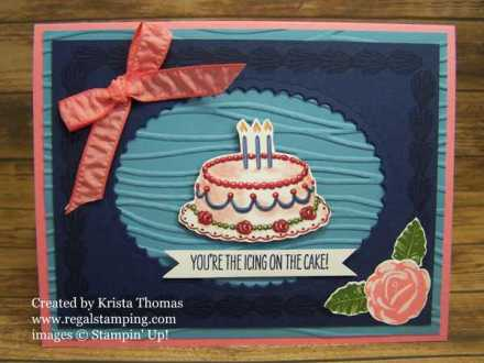 Icing on the Cake with Birthday Memories by Krista Thomas, www.regalstamping.com