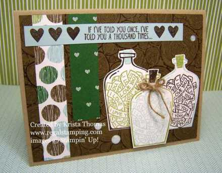 Message in a Bottle with Tree Rings, Stampin' Up!