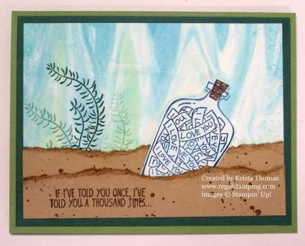 Message in A Bottle, Stampin Up, Shaving Cream Technique, www.regalstamping.com