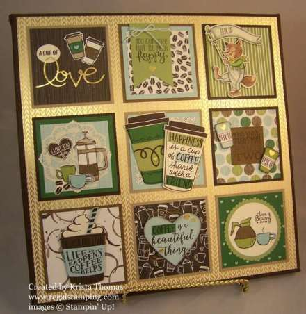 Coffee Theme Framed Art by RegalStamping on Etsy