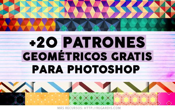 20 Patrones Geomtricos Gratis para Photoshop  Regardis