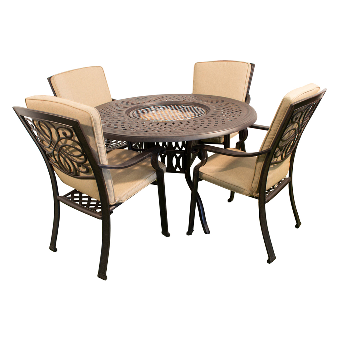 Firepit Chairs Kensington Firepit And Grill Round 120cm Fire And Ice Table