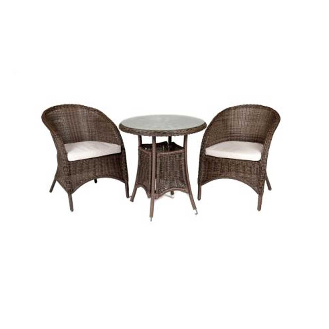 Garden Table And Chairs Riverdale Bistro Rattan Garden Set With 70cm High Table