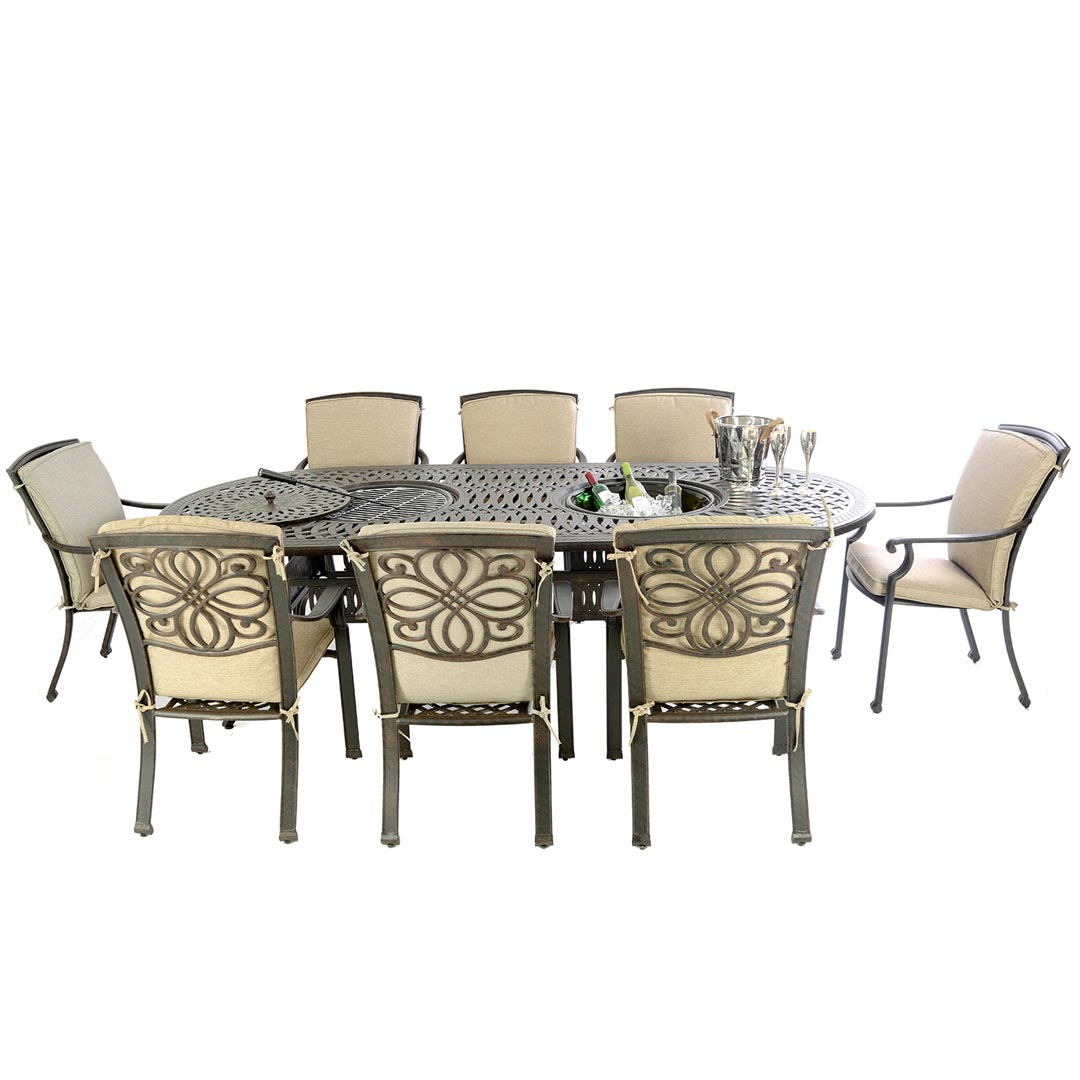 Firepit Chairs Kensington Fire And Ice Collection Oval Double Bowl Table