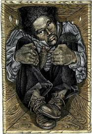"The Resurrection of Henry ""Box"" Brown: Escaped to freedom at the age of 33 by arranging to have himself mailed in a wooden crate in 1849 to abolitionists in Philadelphia, Pennsylvania."