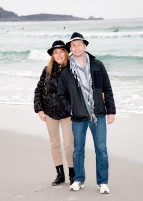 Gemma and Palo at Carmel Beach