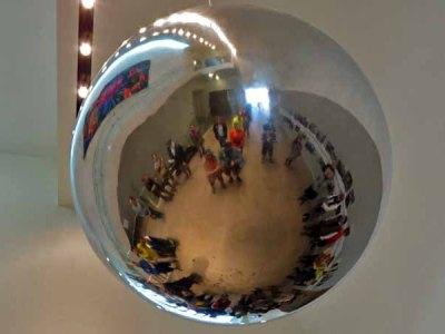 Gathered Around the Mirrored Sphere at the Kemper