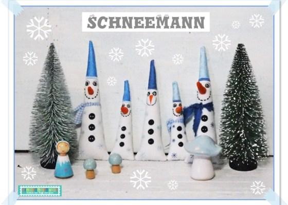 Es schneit… Schneemann Stickdatei ITH