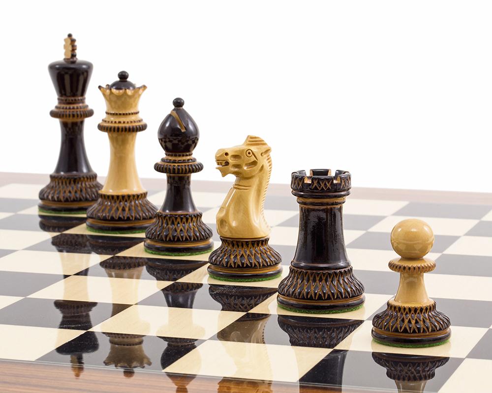 The Burnt Parker Palisander Chess Set [RCPB325]