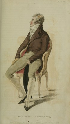 1810 v3 Ackermann's Fashion Plate 26 - Gentleman Full Dress