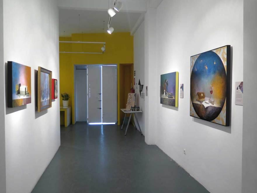 vista desde entrada a exposición