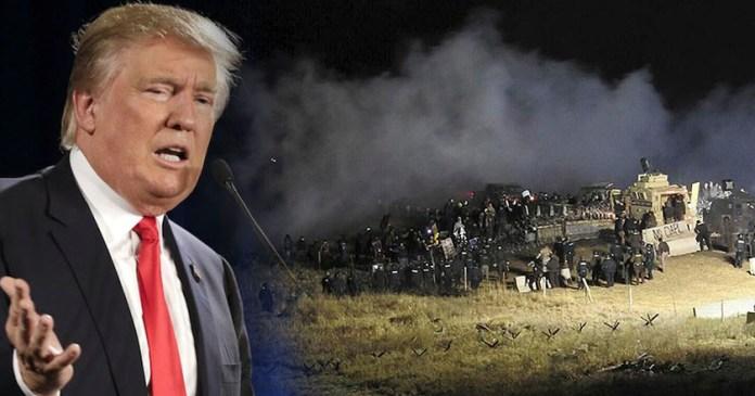 Tribu sioux contra oleoducto en Dakota que tiene que ver Trump