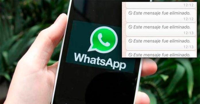 Así puedes recuperar los mensajes eliminados en Whatsapp