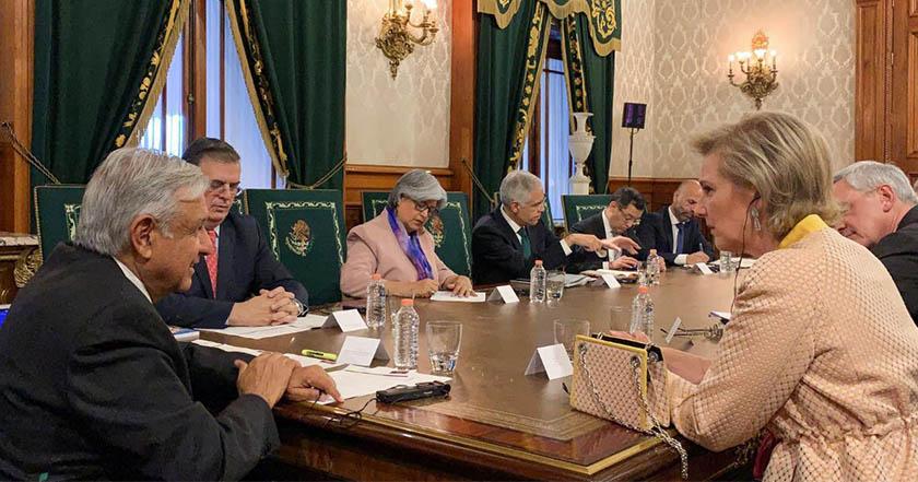 AMLO recibe delegación de la princesa Astrid de Bélgica - AMLO recibe delegación de la princesa Astrid de Bélgica