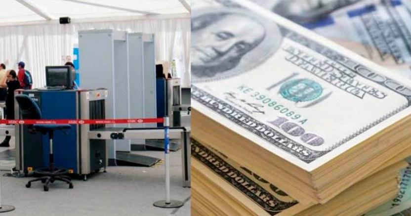 En el AICM detienen a un hombre por llevar 100 mil dólares en su maleta 1 - En el AICM detienen a un hombre por llevar 100 mil dólares en su maleta