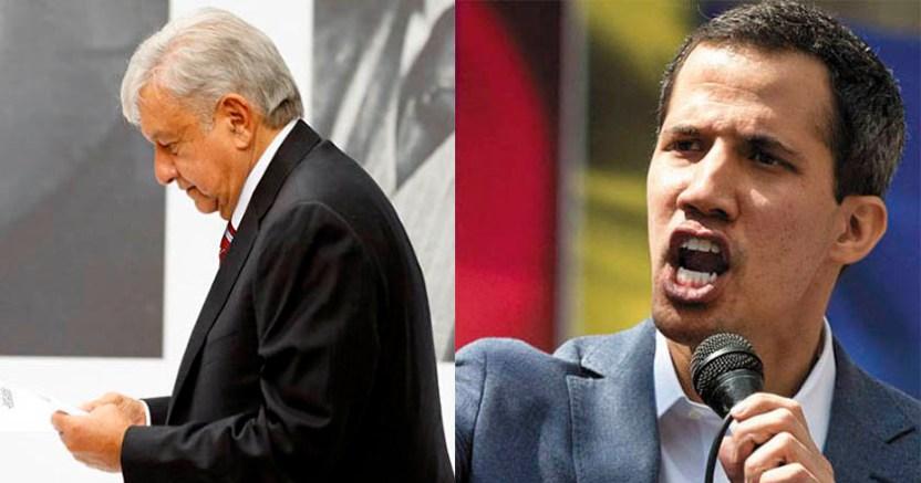 Guaidó ignora decisión de AMLO sobre la no intervención en Venezuela  - Guaidó ignora decisión de AMLO sobre la no intervención en Venezuela
