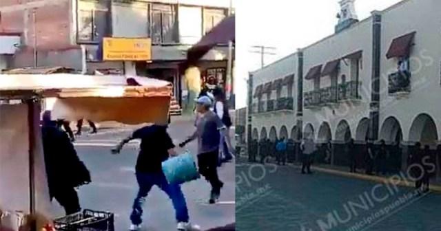 Intentan linchar a ladrón en Huejotzingo policía no los deja y reaccionan - Intentan linchar a 'ladrón' en Huejotzingo, policía no los deja y reaccionan