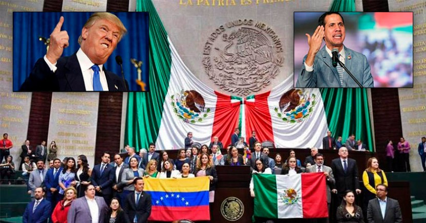 PAN secuestra San Lázaro en apoyo a Guaidó Cámara los rechaza - PAN secuestra San Lázaro en apoyo a Guaidó; Cámara los rechaza