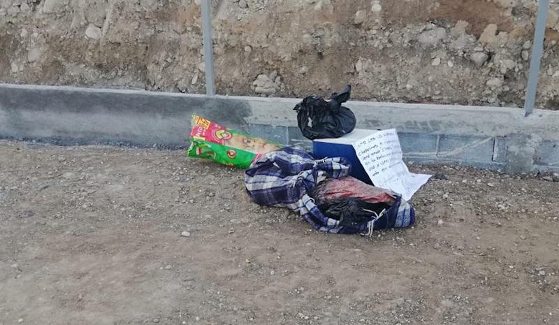 cuerpo NL - Encuentran restos de un hombre con narcomensaje en Apodaca, NL