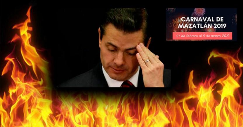 Quemarán a EPN por ser 'el mal encarnado' durante la Quema del Mal Humor en el Carnaval de Mazatlán - Quemarán a EPN en 'Quema del Mal Humor' en el Carnaval de Mazatlán