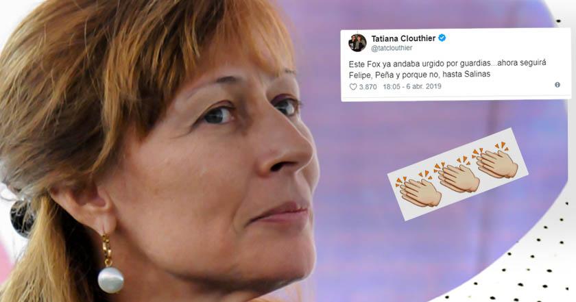 AAA - Tatiana Clouthier llama 'urgido por guardias' a Vicente Fox