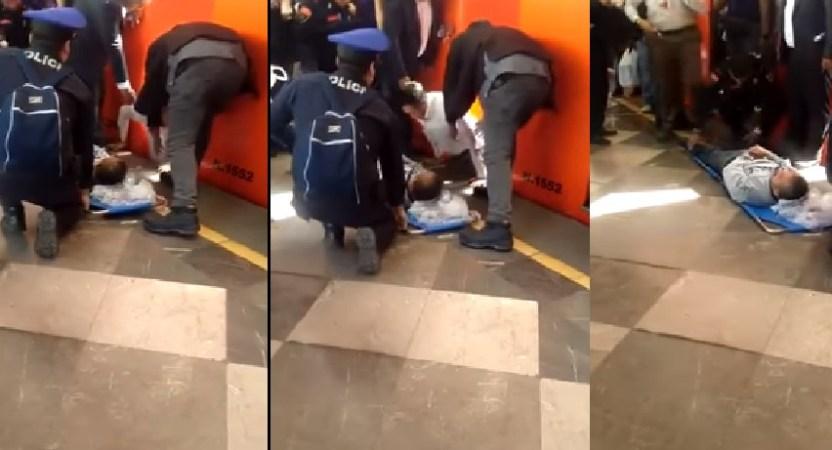 Screenshot 22 - Hombre cae a las vías de la estación Iztacalco, Línea 8 del Metro (Video)