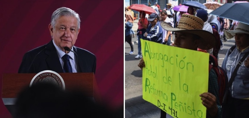 """AMLO CNTE - """"Muy buena"""" reunión con CNTE, dará respuesta a pliego petitorio"""